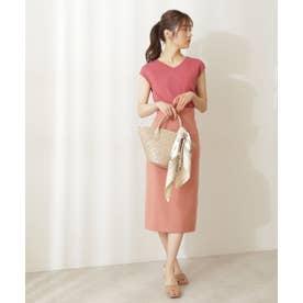 サイドポケットタイトスカート アプリコットピンク6