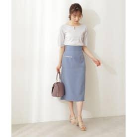 サイドポケットタイトスカート ブルー