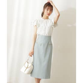 サイドポケットタイトスカート アイスグリーン1