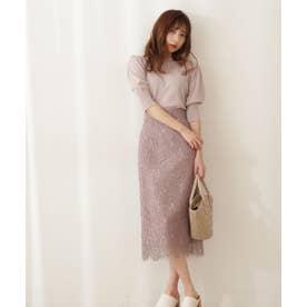 ナローレーススカート・WEB限定カラー:ミント モカ1