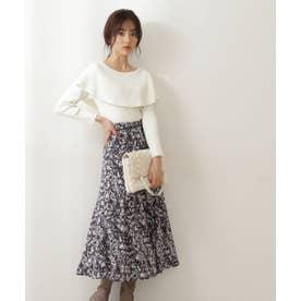 blur zebraマーメイドスカート ブラック