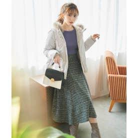 ツイードフレアースカート WEB限定カラー:ブルー ブラック