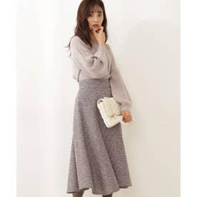 ツイードフレアースカート WEB限定カラー:ブルー グレー