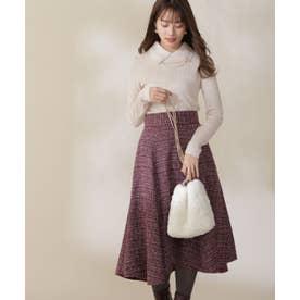 ツイードフレアースカート WEB限定カラー:ブルー ピンク