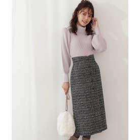 ツイードタイトスカート WEB限定カラー:ブルー ブラック