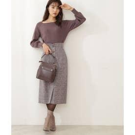 ツイードタイトスカート WEB限定カラー:ブルー グレー
