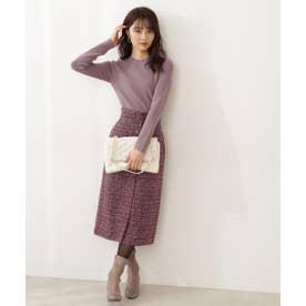 ツイードタイトスカート WEB限定カラー:ブルー ピンク