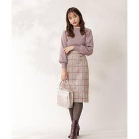 ループチェックツイードタイトスカート キャメル1