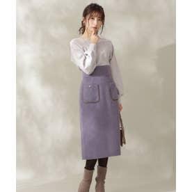 フロントポケットタイトスカート ブルー