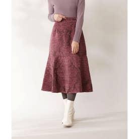 モールジャガードマーメイドスカート ワインレッド2
