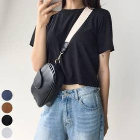 ベーシッククロップドTシャツ (Black)