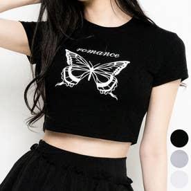 RomanceバタフライTシャツ (Black)