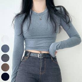 アームウォームクロップドTシャツ (Charcoal)
