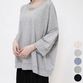 ステッチ7部袖ロングTシャツ (Gray)