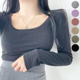 スクエアネッククロップドTシャツ (Black)