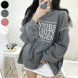 MENTORSリバースステッチロングTシャツ (Charcoal)