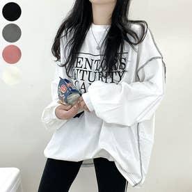 MENTORSリバースステッチロングTシャツ (White)