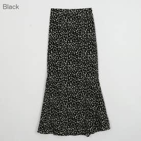 ゆるフレアのマキシスカート (Black)