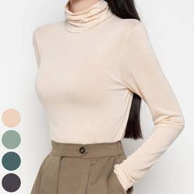 ミュートカラーハイネックTシャツ (Cream)