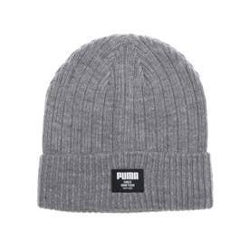 ニット帽 リブ クラシック ビーニー 022831 (グレー)