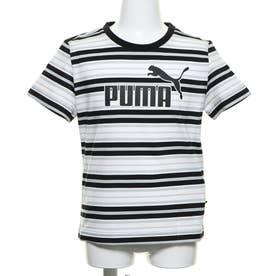ジュニア 半袖Tシャツ ESS ストライプ ロゴ Tシャツ 583014
