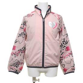 ジュニア ウインドジャケット トレーニング ウラトリコット ウーブン ジャケット G 584968 (ピンク)