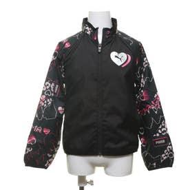 ジュニア ウインドジャケット トレーニング ウラトリコット ウーブン ジャケット G 584968 (ブラック)