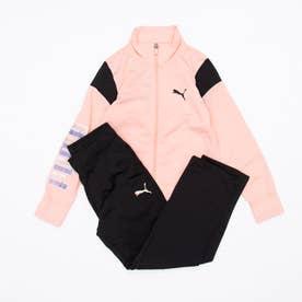 ジュニア ジャージ上下セット ALPHA スーツ 589025 (ピンク)