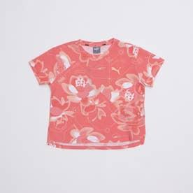 ジュニア 半袖Tシャツ ALPHA AOP Tシャツ 589016 (ピンク)