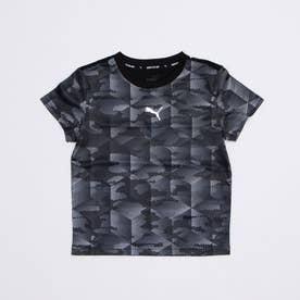 ジュニア 半袖機能Tシャツ ACTIVE SPORTS AOP ポリTシャツ 588835 (ブラック)