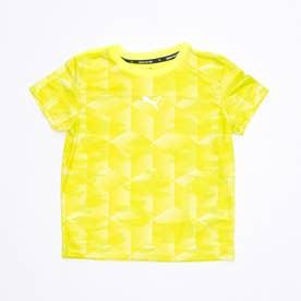ジュニア 半袖機能Tシャツ ACTIVE SPORTS AOP ポリTシャツ 588835 (イエロー)