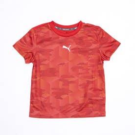 ジュニア 半袖機能Tシャツ ACTIVE SPORTS AOP ポリTシャツ 588835 (レッド)
