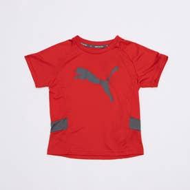 ジュニア 半袖機能Tシャツ ACTIVE SPORTS キャット ポリTシャツ 588849 (レッド)