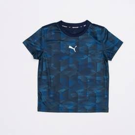 ジュニア 半袖機能Tシャツ ACTIVE SPORTS AOP ポリTシャツ 588835 (ネイビー)