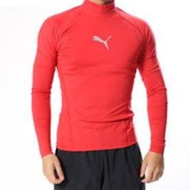 メンズ フィットネス 長袖コンプレッションインナー テック ライト LSモックネック ヘザー Tシャツ 517543