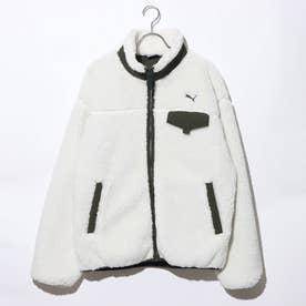メンズ フリースジャケット ボアジャケット M 587597 (ホワイト)