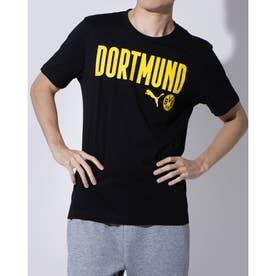 メンズ サッカー/フットサル 半袖シャツ BVB FTBLCORE ワーディング SS Tシャツ 758099 (ブラック)
