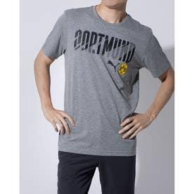 メンズ サッカー/フットサル 半袖シャツ BVB FTBLCORE ワーディング SS Tシャツ 758099 (グレー)