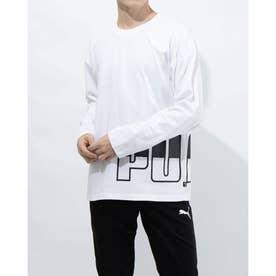 メンズ 長袖Tシャツ BIG LOGO LS Tシャツ 588468 (ホワイト)