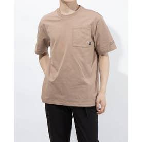 メンズ 半袖Tシャツ ビッグポケット Tシャツ 588568 (ベージュ)