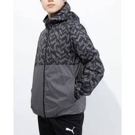 メンズ ウインドジャケット ウラメッシュ ウーブン ジャケット 520526 (ブラック)