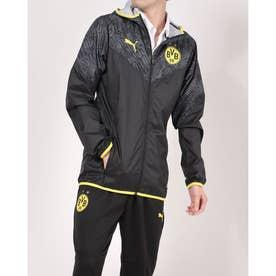 メンズ サッカー/フットサル フルジップ BVB ウォームアップ ジャケット 758585 (ブラック)