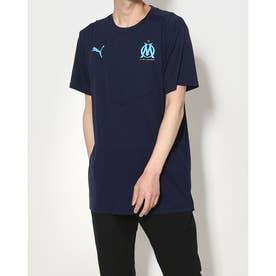 メンズ サッカー/フットサル 半袖シャツ OM ウォームアップ Tシャツ 758653 (ネイビー)