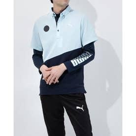 メンズ ゴルフ セットシャツ ゴルフ インナーセット SS ポロシャツ 930181 (ブルー)
