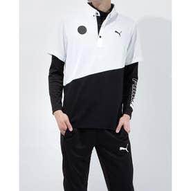 メンズ ゴルフ セットシャツ ゴルフ インナーセット SS ポロシャツ 930181 (ブラック)
