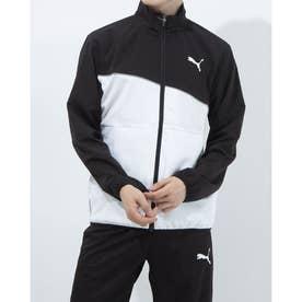 メンズ ウインドジャケット ノンラインド ウーブン ジャケット 520528 (ホワイト)
