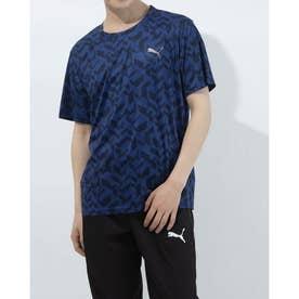 メンズ 半袖機能Tシャツ パフォーマンス AOP SS Tシャツ 520686 (ネイビー)