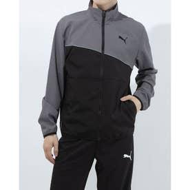 メンズ ウインドジャケット ノンラインド ウーブン ジャケット 520528 (ブラック)