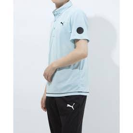 メンズ ゴルフ 半袖シャツ ゴルフ SS ポロシャツ 923982 (ブルー)