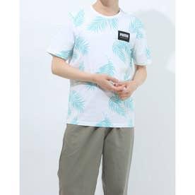 メンズ 半袖Tシャツ SUMMER COURT AOP Tシャツ 845859 (イエロー)